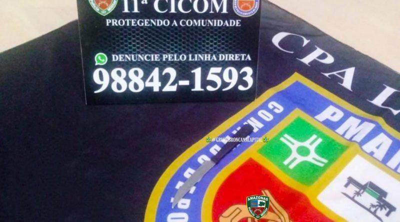 Policiais militares da 11ª Cicom detêm homem por violência doméstica na zona leste